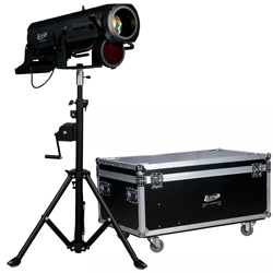 Elation PRO-FS-15R Followspot with 15R Lamp, Stand, and Case