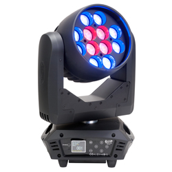 Elation RAYZOR-Q12Z 12x15W LED RGBW Wash Moving Head Light with Zoom