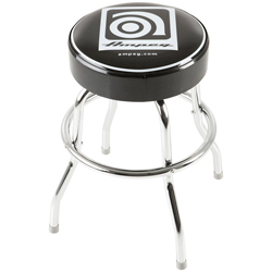 Ampeg Studio Stool 24 Inch Metal Stool with Ampeg Logo on Cushioned Seat