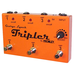 Morley TRIPLER George Lynch Guitar Pedal for 1 Guitar and up to 3 Amplifiers