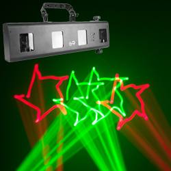 Chauvet Scorpion Bar RG Array Red Green Laser Fixture with Variance-Free Fat Beam Technology