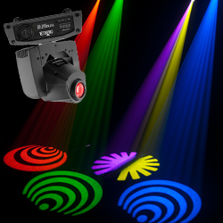 Chauvet DJ IntimSpot155-LED Lightweight LED Moving Head Light with Colors and Gobos