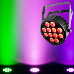 Chauvet DJ SlimPAR QUV12 USB Low Profile High Output RGB+UV 12x4W LED Par Light