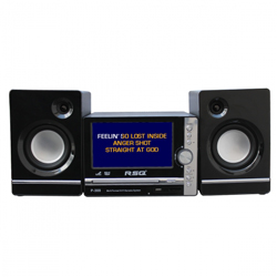 RSQ P-300 Home Karaoke System with TV and 2 Mic Inputs - Tiny and Powerful
