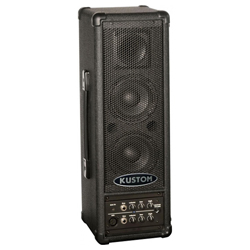 Kustom PA PA40BATBT Battery Powered 40W Active PA Speaker System with Front Access Built in Mixer and Bluetooth