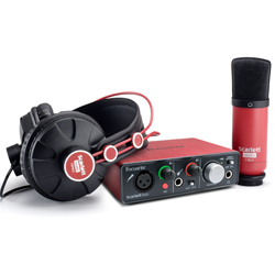 Focusrite Scarlett Solo Studio Pack MK2 Next Generation Digital Audio Package with Scarlett Solo and Accessories