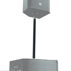 Electro Voice PCL35 Black Coloured Steel Subwoofer Pole with Threaded End for Various Subwoofers