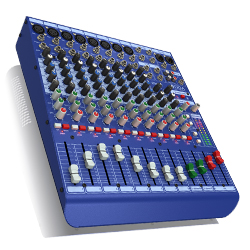 Midas DM12 DAA Series 12 Input Analogue Live and Studio Mixer with Microphone Preamplifiers
