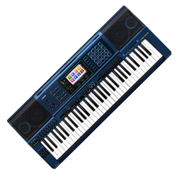 Casio MZ-X500 61-Key Arranger Keyboard in Blue with 1100 High-Quality Tones
