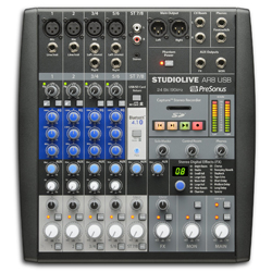 Presonus StudioLive-AR8 8 Channel Hybrid Performance and Recording Mixer with USB and Bluetooth