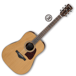 Ibanez AVD9-NT Artwood Vintage Thermo Aged Series 6 String Acoustic Guitar in Natural High Gloss