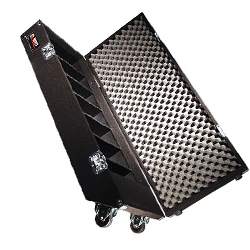 Odyssey CCD320PW Carpeted Professional CD Case with Wheels for Up to 300 View Packs