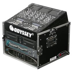 Odyssey FR1006 Combo Rack Flight Case 10 U Top Slanted and 6U Vertical Rack Spaces