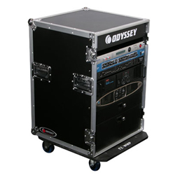 Odyssey FR16WE 16 Space Amp Rack Flight Case with Wheels