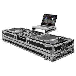 Odyssey FZGSLDJ12W Universal Turntable DJ Coffin with Wheels and Laptop Shelf