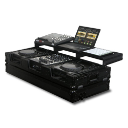 Odyssey FZGSP12CDJWBL Black Label Universal CD/Digital Media Player DJ Coffin with Wheels