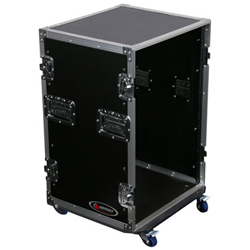 Odyssey FZSRPAR12W Flight Zone Pro Amp Rack Case with Wheels and 12U Spaces