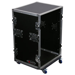Odyssey FZSRPAR16W Flight Zone Pro Amp Rack Case with Wheels and 16U Spaces