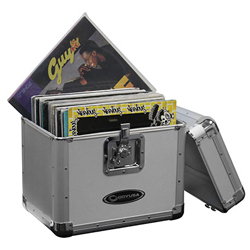 Odyssey KLP2SIL Krom Series Stacking 12 Inch Vinyl Record and LP/Utility Case in Silver