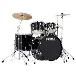 Tama SG52KH6C-BK STAGESTAR Complete Drum Kit with 16x22 Inch Bass Drum and Stagestar Cymbal Set in Black