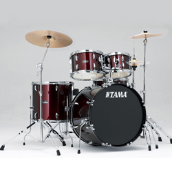 Tama SG52KH6C-WR STAGESTAR Complete Drum Kit with 16x22 Inch Bass Drum and Stagestar Cymbal Set in Wine Red