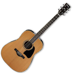 Ibanez AW370NT 6 String Artwood Acoustic Guitar with Natural Finish (discontinued clearance)