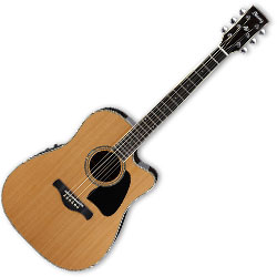 Ibanez AW370ECENT 6 String Artwood Acoustic Guitar with preamp in Natural Finish (discontinued clearance)