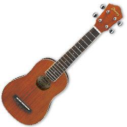 Ibanez IUKS5 Soprano Style Acoustic Ukulele in Open Pore