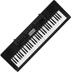 Casio CTK3200 61 Key Portable Keyboard with AC Adaptor