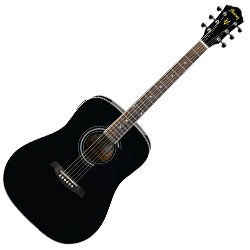 Ibanez V72EBK 6 String Acoustic Guitar with onboard tuner (discontinued clearance)