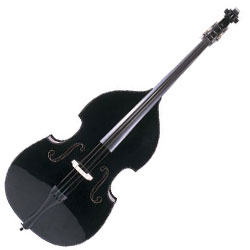 Carlo Giordano SB120EB Silenzia Three Quarter  Double Bass and Accessories in Black