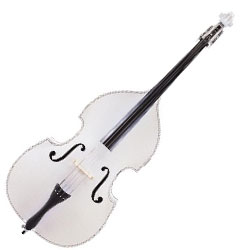 Carlo Giordano SB120EW Silenzia Three Quarter  Double Bass and Accessories in White