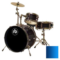 RB drums RBJR3MBL Junior Drum Kit in Metallic Blue