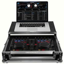 Odyssey FRGSDNMC2000 Flight Ready Glide Style Case for Denon DN MC2000 DJ controller with laptop platform