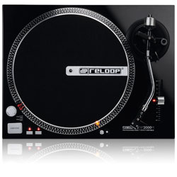 Reloop RP-2000M Quartz Driven DJ Turntable with Direct Drive