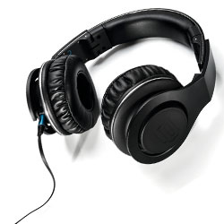 Reloop RHP-30 BLACK Professional DJ Headphones in Black Includes 3 Different Cable Types
