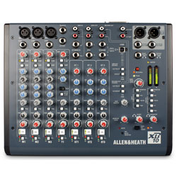 Allen & Heath XB-10 Compact Broadcast Mixer for Small Radio or Internet Broadcast