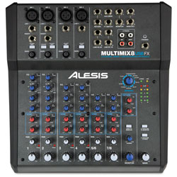 Alesis Multimix8USBFX 8 Channel Mixer with Effects USB Audio Interface