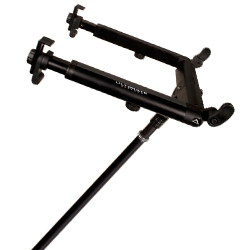 Ultimate Support HYM100QR HyperMount QR Desktop and 5/8 inch Thread Mountable Laptop DJ Stand