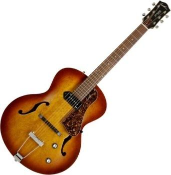 Godin 031986 5th Avenue Archtop Jazz-Style Acoustic Guitar (Kingpin P90, Cognac Burst)