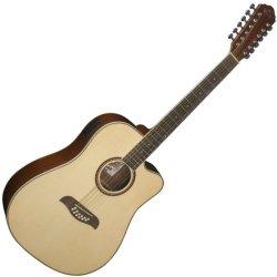 Oscar Schmidt OD312CE 12-String Cutaway Acoustic Electric Guitar - Natural
