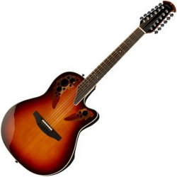 Ovation 2758 AX NEB Standard Elite 12-String Acoustic Electric Guitar - New England Burst