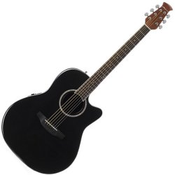 Ovation AB24II-5 Applause Balladeer Series Acoustic-Electric RH 6 String Guitar - Black