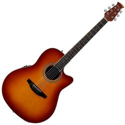 Ovation AB24II-HB Applause Balladeer Series Acoustic-Electric RH 6 String Guitar - Honey Burst