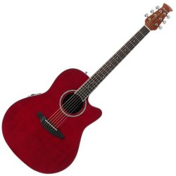 Ovation AB24II-RR Applause Balladeer Series Acoustic-Electric RH 6 String Guitar - Ruby Red