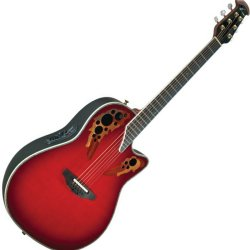 Ovation C2078 AX RTD Custom Elite Deep Contour Acoustic-Electric RH 6 String Guitar - Red Teardrop Burst