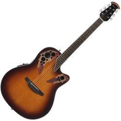 Ovation CE48-1 Celebrity Elite RH Six String Acoustic Electric Guitar - Sunburst