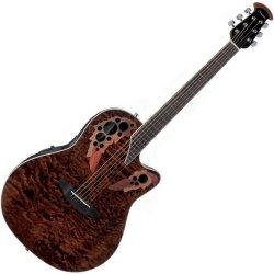 Ovation CE48P-TGE Celebrity Elite Plus RH 6 String Acoustic Electric Guitar- Tiger Eye