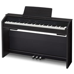 Casio PX860BK Privia Tri-sensor Scaled Hammer Action Upright 88 Key MIDI Keyboard with Stand and Pedal