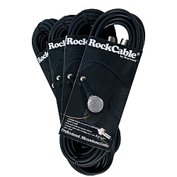 RockCable RCL30351D7 XLR(F)-XLR(M) 1m/3' w/Clr Rings (discontinued clearance)